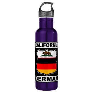 California German American Water Bottle