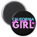 California Girl 2 Inch Round Magnet