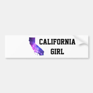 California Girl Galaxy Bumper Sticker