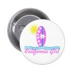 California Girl Pink Surfboard W/Sun Buttons