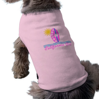 California Girl Pink Surfboard W/Sun Doggie Tshirt