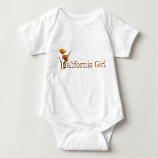 California Girl Poppies Infant Baby Bodysuit