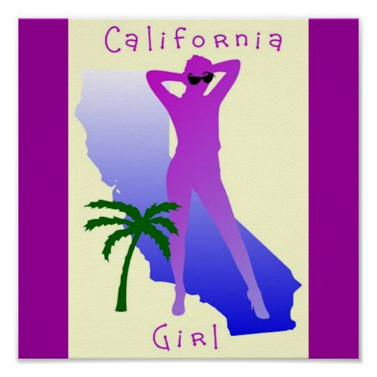 CALIFORNIA GIRL POSTER