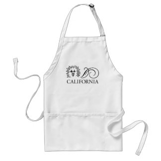 California Glyphing Adult Apron