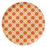 California gold dots and Trinidad orange squares Dinner Plates
