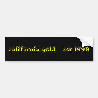 california gold   est 1998 car bumper sticker