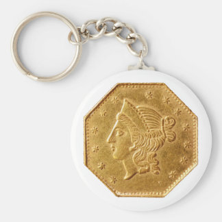 California Gold Fractional Keychain