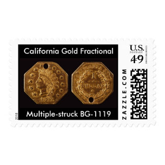 California Gold Fractional Postage