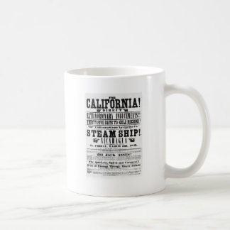 California Gold Rush Steam Ship Passage Coffee Mug