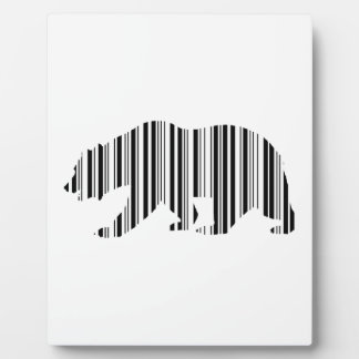 CALIFORNIA GOLDEN BEAR BAR CODE Pattern Design Plaque