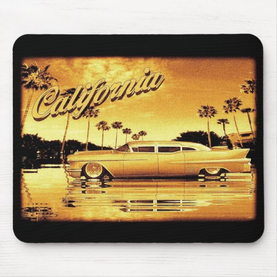 california golden limo mouse pad