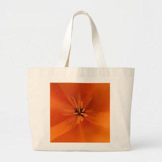California Golden Poppy Macro Large Tote Bag