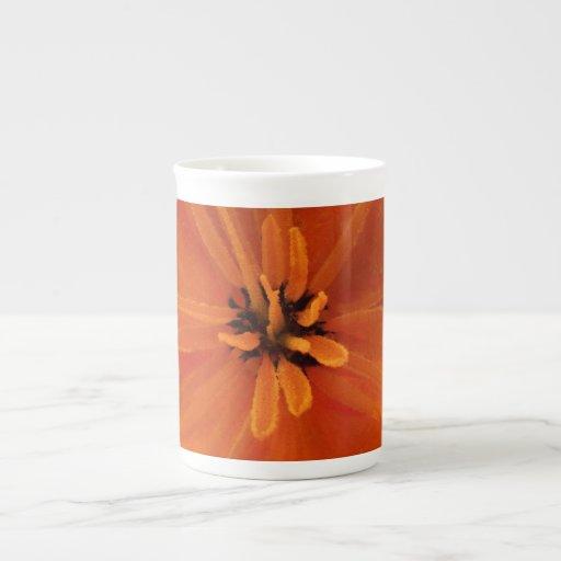 California Golden Poppy Macro Porcelain Mug