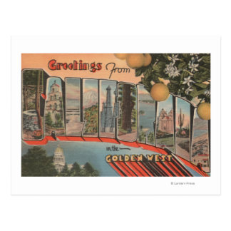 California (Golden West)Large Letter Scenes Post Cards