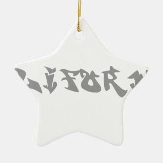 california-graf-gray.png adorno navideño de cerámica en forma de estrella