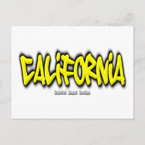 California Graffiti Postcard