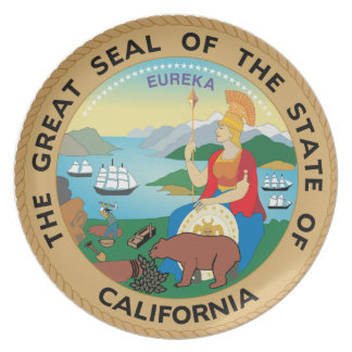 California Great Seal Collector's Plate