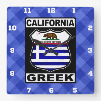 California Greek American Clock