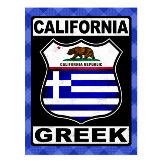 California Greek American Post Card