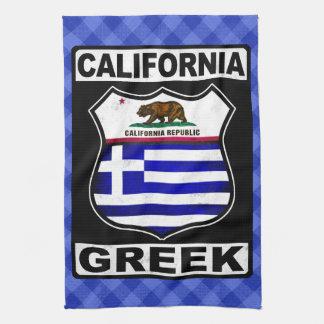 California Greek American Tea Towel