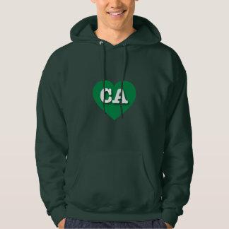 California green heart - Big Love Hoodie