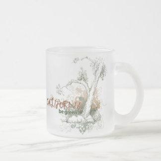 California Green Tree Mug Glass