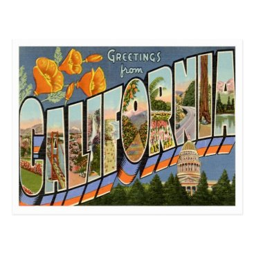 GraficaArtistica California Greetings From US States Postcard