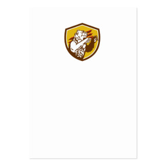 California Grizzly Bear Smirking Claw Marks Crest Large Business Card