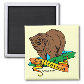 California Grizzly Magnet