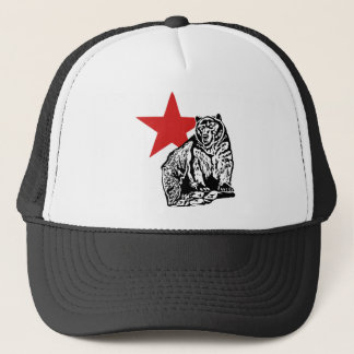 California grizzly trucker hat