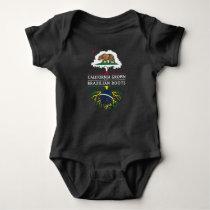 California Grown with Brazilian Roots Baby Bodysuit