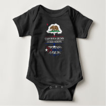 California Grown with Cuban Roots Baby Bodysuit