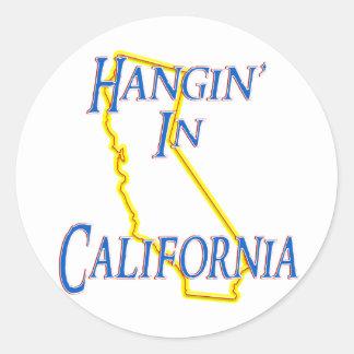 California - Hangin' Classic Round Sticker