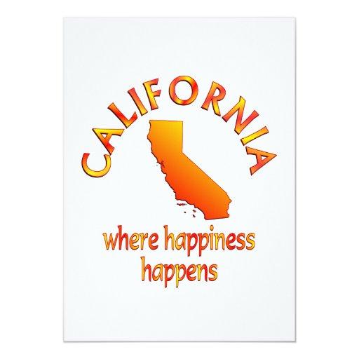 CALIFORNIA Happiness Card