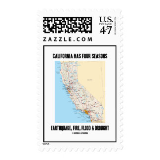 California Has Four Seasons Earthquake Fire Flood Postage