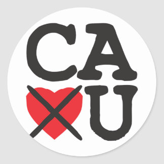California Hates You Classic Round Sticker