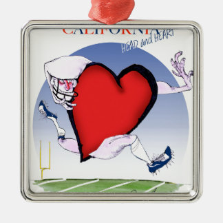 california head heart, tony fernandes metal ornament
