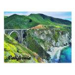 California Highway 1 Bixby Bridge Big Sur Postcard