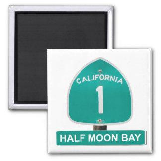 California Highway 1 Half Moon Bay Magnet