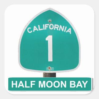 California Highway 1 Half Moon Bay Stickers
