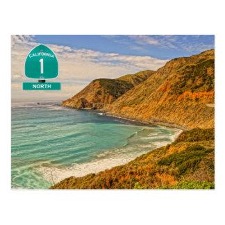 California Highway 1 Postcard