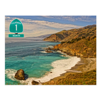 California Highway 1 Postcard