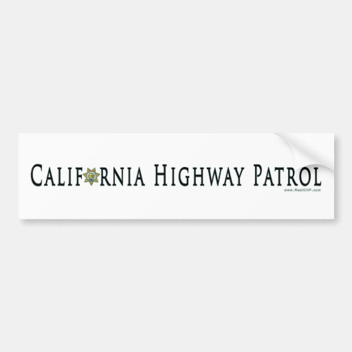 California Highway Patrol Bumper Sticker Car Bumper Sticker