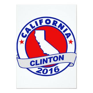 """California Hillary Clinton 2016.png Invitación 5"""" X 7"""""""