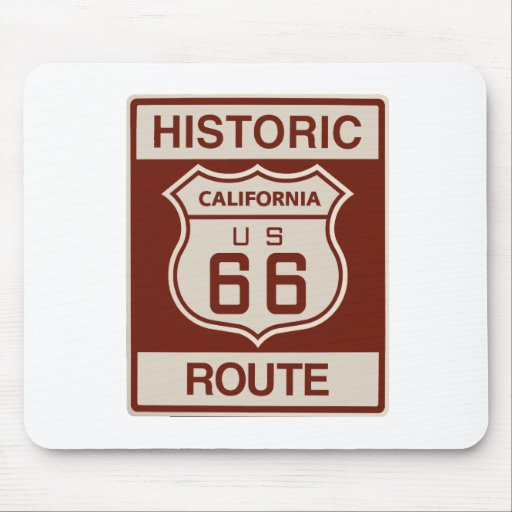 California histórica RT 66 Mousepads