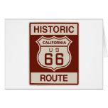 California histórica RT 66 Tarjeton