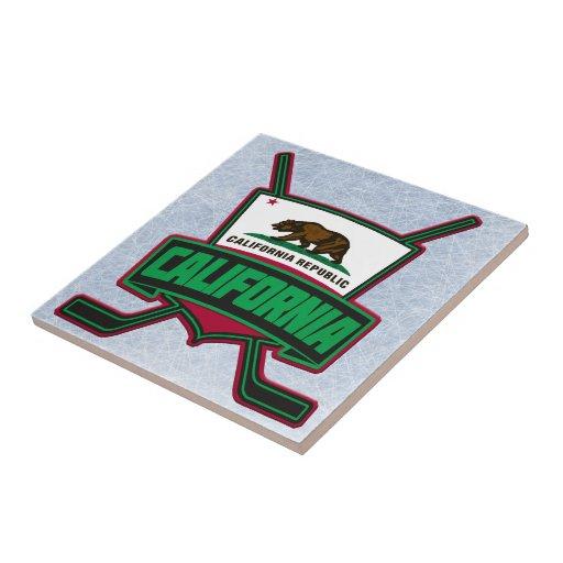 California Hockey Logo Shield Tile