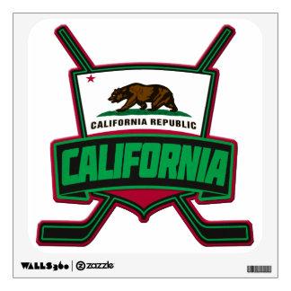 California Hockey Logo Shield Wall Decal