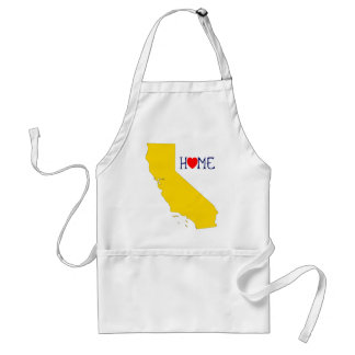 California Home - Blue and Gold Adult Apron