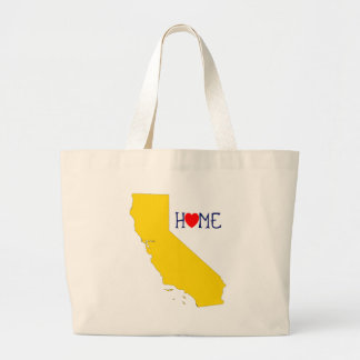 California Home - Blue and Gold Large Tote Bag